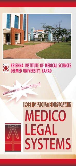 Post Graduate Diploma in Medico Legal Systems - Krishna Institute ...
