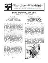 Newsletter, Winter/Spring 2013, Volume 26, Issue ... - CS Jung Society