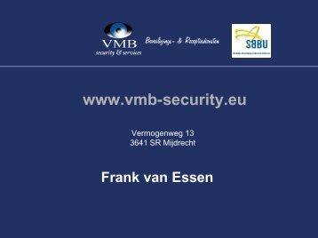 Presentatie VMB - SBBU