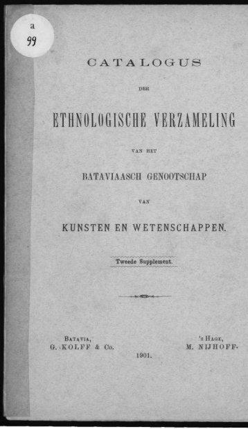 ETHNOLOGISCHE VERZAMELING - Acehbooks.org