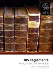 THS Reglemente, reviderat KF5 12/13 - Tekniska Högskolans ...
