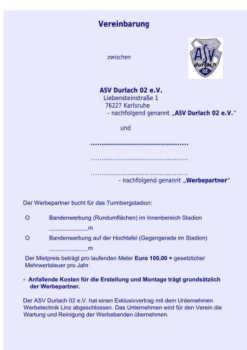 Vereinbarung - ASV Durlach