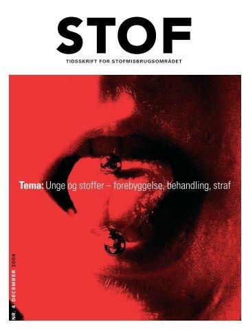 Tema:Unge og stoffer – forebyggelse, behandling, straf