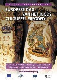 europese dag van het joods cultureel erfgoed - B'NAI B'RITH loge ...
