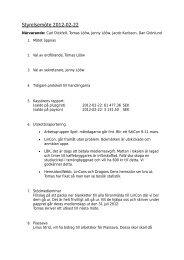 Protokoll ordinarie styrelsemöte