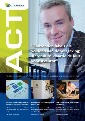Act 2012 nr. 3 - Wet - Actemium