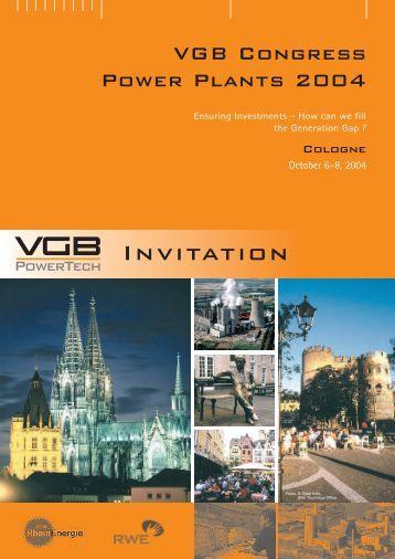 Power Plant 2004 - VGB PowerTech