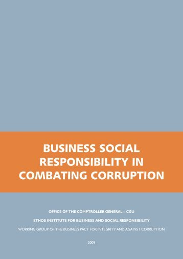 BUSINESS SOCIAL RESPONSIBILITY IN COMBATING CORRUPTION