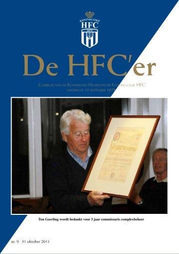 nr. 9. 31 oktober 2011 - Koninklijke HFC