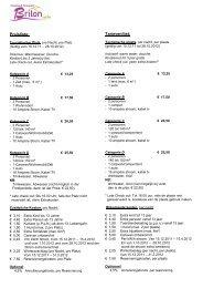 Preisliste: Tarievenlijst: - Camping und Ferienpark Brilon
