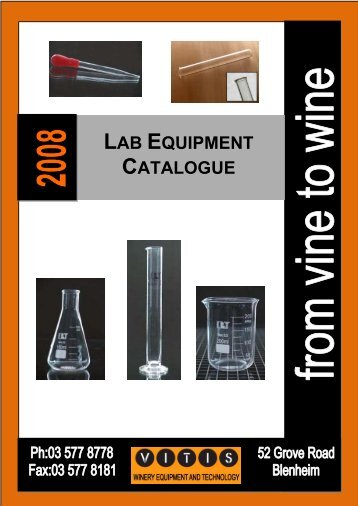 LAB EQUIPMENT CATALOGUE - Vitis