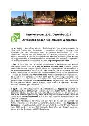 Leserreise vom 11.-13. Dezember 2012 Adventszeit mit den ...