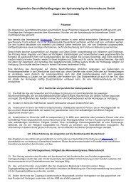 Allgemeine Geschäftsbedingungen der 4privateequity ... - 4finance.de