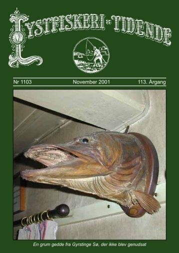 Nr 1103 November 2001 113. Årgang - Lystfiskeriforeningen