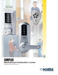 Mechanical Pushbutton Locks - Kaba Ilco