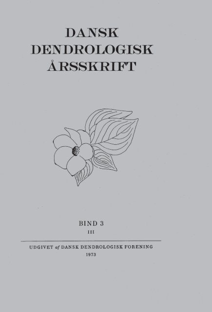 Volume 3,3 (1973) - Dansk Dendrologisk Forening