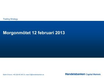 12 february 2013 (pdf) - Handelsbanken