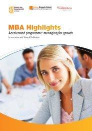 MBA Highlights - Voka