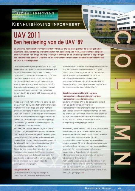 UAV 2011 - KienhuisHoving advocaten en notarissen