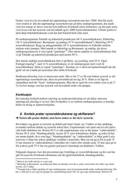 Rapport om språkskifte i Valdres - Noregs Mållag