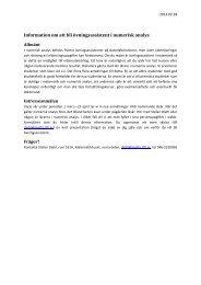 Information om att bli övningsassistent i numerisk analys