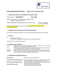 VEILIGHEIDSINFORMATIEBLAD. Uitgave van 17 ... - Horticoop