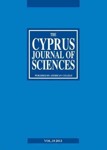 Cyprus Journal of Sciences, Vol. 10 - American College