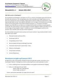 Nieuwsbrief nr. 1 Seizoen 2011-2012 Nieuwjaarsreceptie op 8 ...