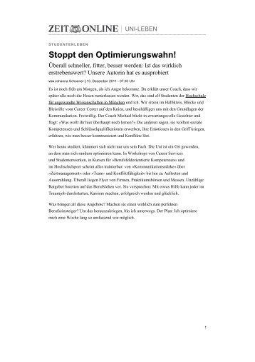Stoppt den Optimierungswahn! - Trefortis.de