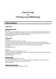 Emneoversigt om Mobning og konfliktløsning - Inerisaavik