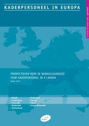 KADERPERSONEEL IN EUROPA - Apec jeunes diplômés