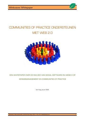 communities of practice ondersteunen met web 2.0 - Winkwaves