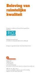 Beleving van ruimtelijke kwaliteit - RIO nuevo!
