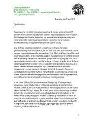 Formandens beretning 2010 - Druestrup Friskole