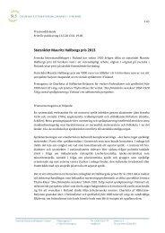 Hallbergska priset 2013 - Svenska litteratursällskapet i Finland rf.