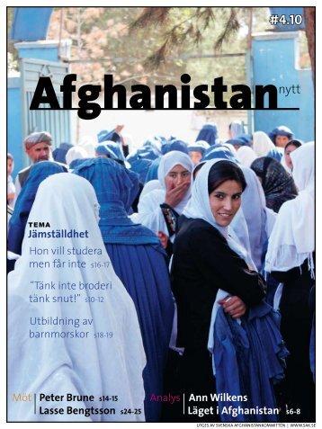 Läs hela numret… - Svenska Afghanistankommittén