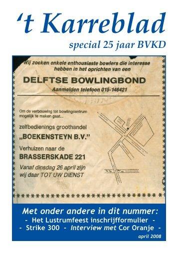 Karreblad april 2008.pdf - Bowling Vereniging 't Karrewiel Delft