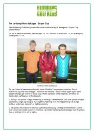 Tre juniorspillere deltager i Super Cup - Hjørring Golfklub