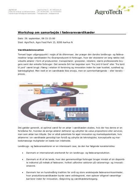 Workshop om samarbejde i fødevareværdikæder - AgroTech