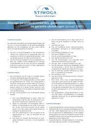 Stiwoga garantievoorwaarden, garantietermijnen en garantie ...