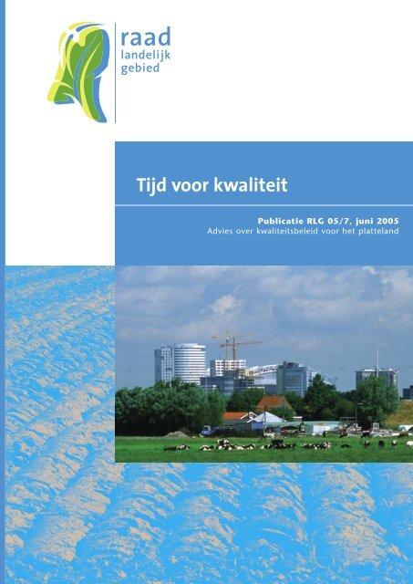 Tijd voor kwaliteit - Raad voor de leefomgeving en infrastructuur