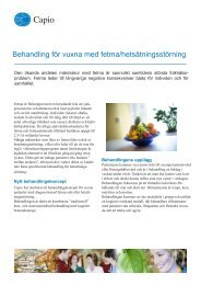 Behandling för vuxna med fetma/hetsätningsstörning - Capio
