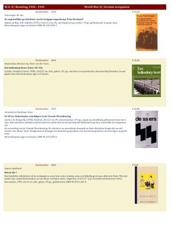 WO II/ Bezetting 1940 - Antiquariaat Clio / Cliobook