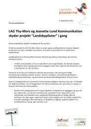 LAG Thy-‐Mors og Jeanette Lund Kommunikation skyder projekt ...
