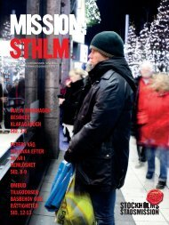 MISSION:STHLM nov 2012 - Stockholms Stadsmission