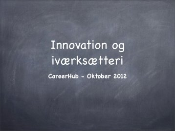 innovation - Careerhub.dk