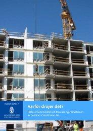 Varför dröjer det? - Kommunförbundet Stockholms Län