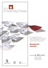 Management Summary 2012 - Swiss IT Sourcing Forum