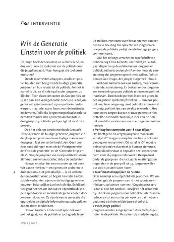 Win de Generatie Einstein voor de politiek - icon WBS.NL