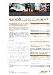 Lønsumsafgift - Formidling af forsikringer og lån - Beierholm